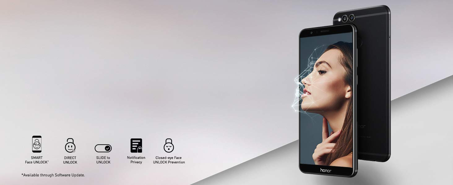 Your face is now your password. Honor 7X comes with Face recognition.