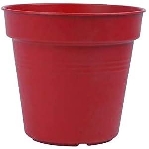 Mintra Plastic Round Pot, 15Cm- Red