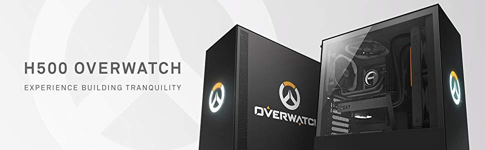 Nzxt H500 Overwatch Midi-Tower Black: Amazon.co.uk: Computers & Accessories
