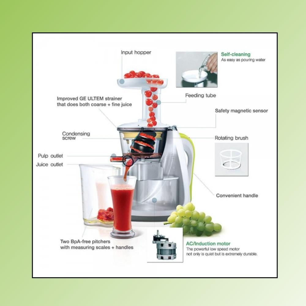 Hurom Ha Wwc09 Slowjuicer Series : Hurom HA-WWC09 Slow Juicer Series, 150-Watt (2 Jars, White): Amazon.in: Home & Kitchen