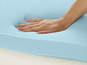 Amazon Basics mattress topper in medium or firm feel