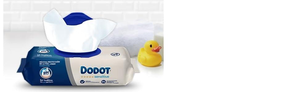 Dodot Sensitive Toallitas para Bebé 15 Paquetes de 54 Unidades, 810 Toallitas: Amazon.es: Salud y cuidado personal