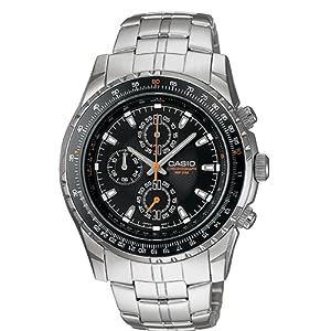 b7487fb5e Casio Men's MTP4500D-1AV Slide Rule Bezel Aviator Stainless Steel Watch