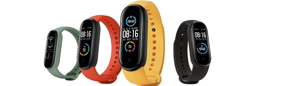 Xiaomi Mi Band 5 Smart Bracelet Pulsera de Actividad, Monitores de Actividad, Pantalla Pulsómetro Fitness Tracker con 1.1 Pantalla Color Tipo Magnético Cargar Sumergible 50m: Amazon.es: Electrónica