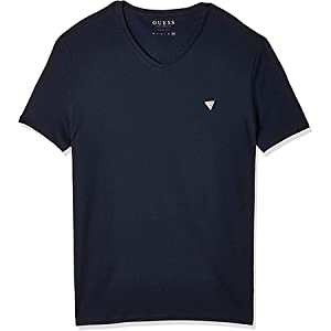 GUESS Men's V- Neck Small Sleeve Core T-Shirt