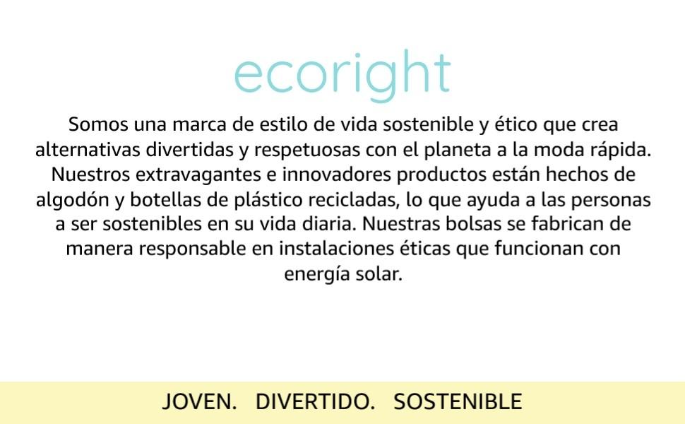 Bolsos de mano de lona EcoRight para mujer