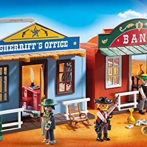 a trunk blue for your diligence travellers Playmobil western
