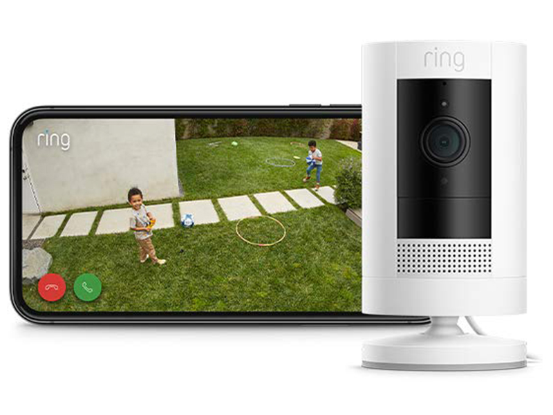 Ring Indoor Cam | Compact Plug-In HD security camera with Two-Way Talk, white, Works with Alexa