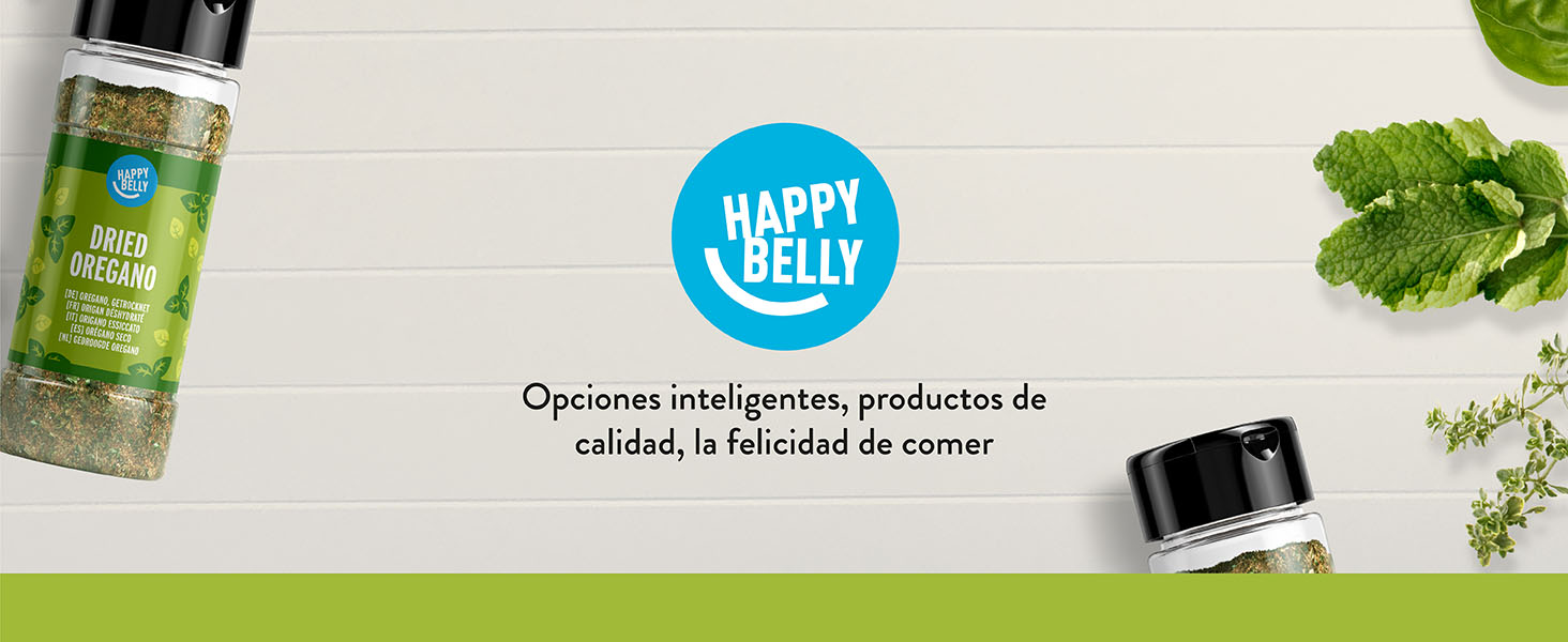 Amazon Brand - Happy Belly - Albahaca seca - 4x15g: Amazon.es ...