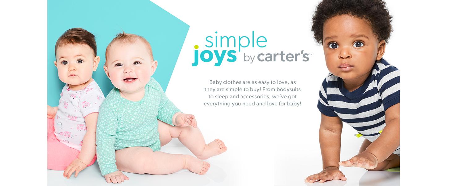 und Spielanzug aus Baumwolle mit F/ü/ßen 2er-Pack Simple Joys by Carters Baby M/ädchen Schlaf