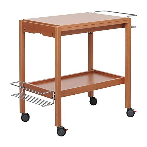 Foppapedretti newton carrello tavolino in legno noce for Amazon cucina