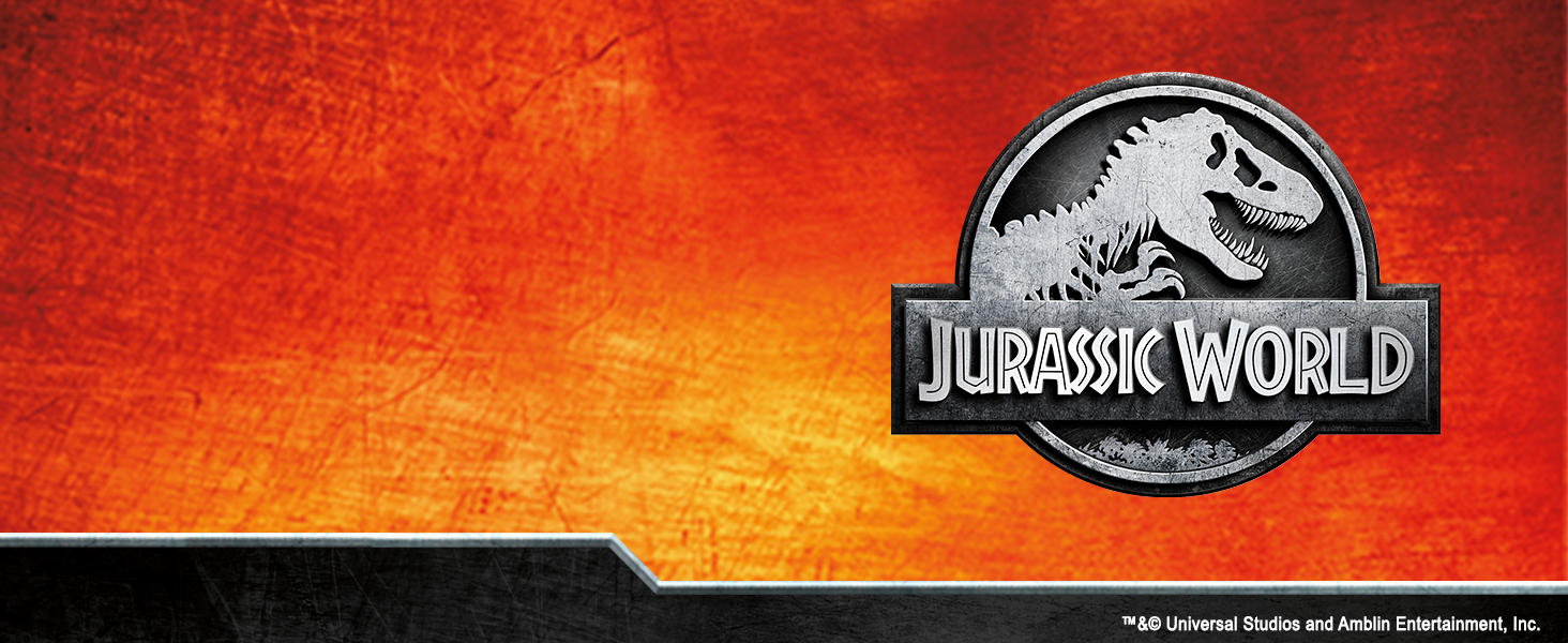 Jurassic World Logo over color background