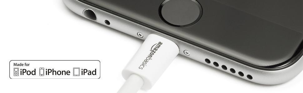 【ライトニングUSBメモリセット】Amazonベーシック Apple認証 ハイクオリティー ライトニングUSB充電ケーブル ホワイト 約90cm