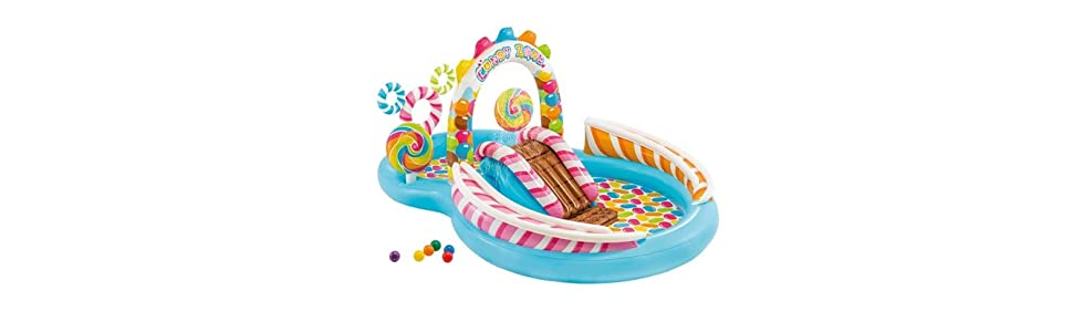 Intex 57149NP - Centro de juegos hinchable Candy Zone 295 x 191 x ...