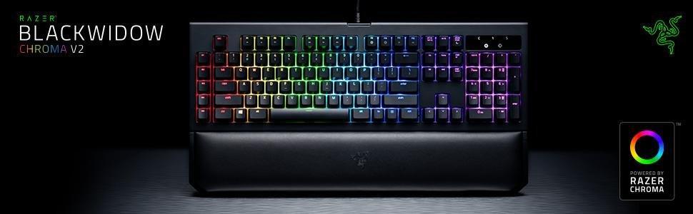 Razer BlackWidow Chroma V2 RZ03-02030100-R3M1 Gaming Keyboard (Green)