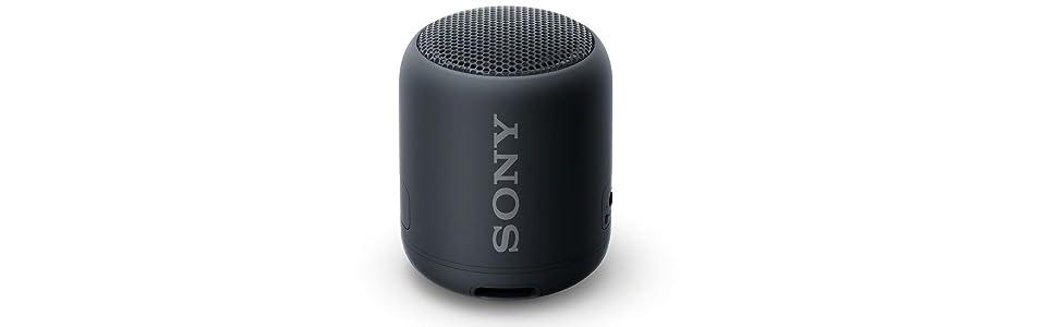 Sony SRS-XB12 Speaker Altoparlante portatile con Bluetooth, Waterproof e resistente alla polvere, Extra Bass, durata della batteria fino a 16 ore, Nero