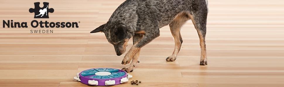 Outward Hound Nina Ottosson Dog Twister Dog Puzzle Toy Dog Game