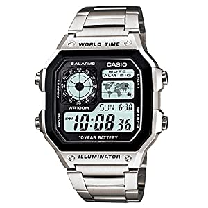 Casio Watch For Men Digital Dial Stainless Steel Band