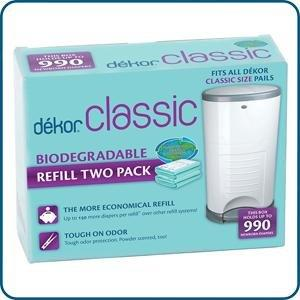 Dekor classic biodegradable refill two count baby for Dekor classic diaper pail refills