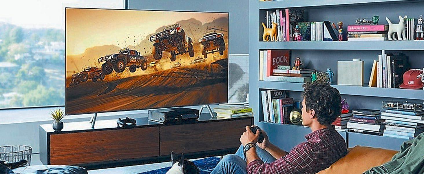 Samsung 65 Inch QLED 4K Smart TV - Black, 65Q6FNA - 2018