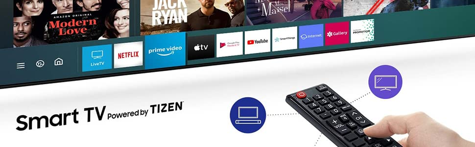 Samsung 43 Inch Full HD Smart LED TV with Built-in Receiver, Black - UA43T5300AUXEG