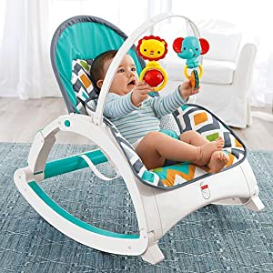 5bb839202 Fisher-Price Newborn-to-Toddler Rocker, Glacier Wave: Amazon.com.mx ...