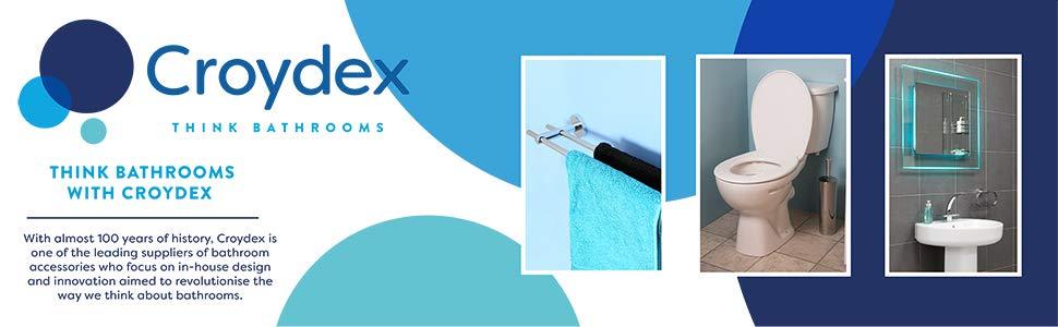 Croydex WA971122 FSC MDF - Portarrollos de Madera, Color Blanco