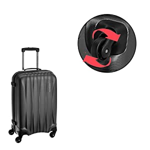 972a602b4 American Tourister Polycarbonate 550 mm Gun Metal Hardside Cabin ...