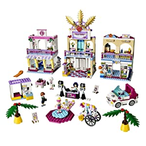 Amazoncom Lego Friends Heartlake Shopping Mall Building Set 41058