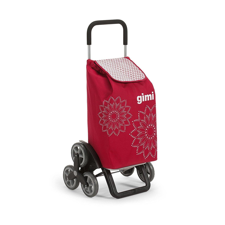 Gimi tris floral carrello portaspesa rosso for Carrello portavivande amazon