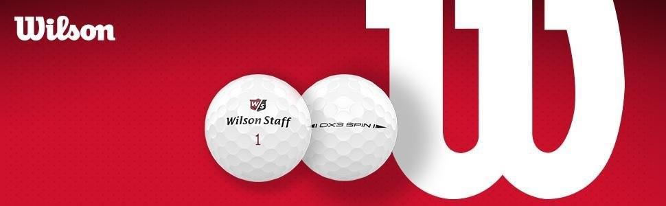 Wilson Staff, Bola de Golf más Blanda del Mundo, 2 Capas, para máxima Distancia, Pack de 12, Jugadores avanzados, Compresión 29, Caucho, DX2 Soft