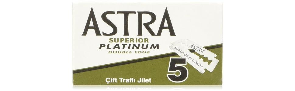 Astra Platinum Hojas de afeitar de doble filo (inoxidable), 20 ...