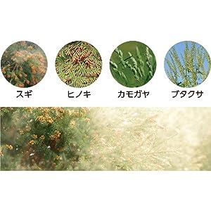 主要な4種類の花粉を1年中抑制