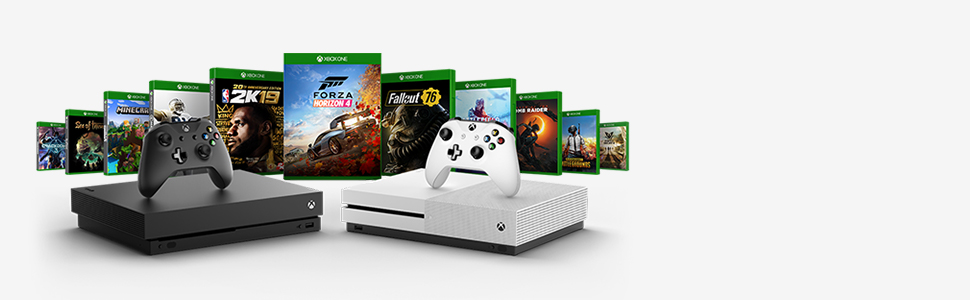 Microsoft Xbox One S 1TB Console (White) with Extra Wireless Controller - Official UAE Version