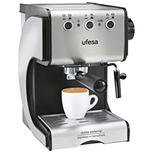 Ufesa CE7141 Duetto Creme - Cafetera Expresso, 1050W, 15 Bares ...