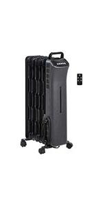 AmazonBasics 1500W Digital Radiator Heater with 7 Wavy Fins and Remote