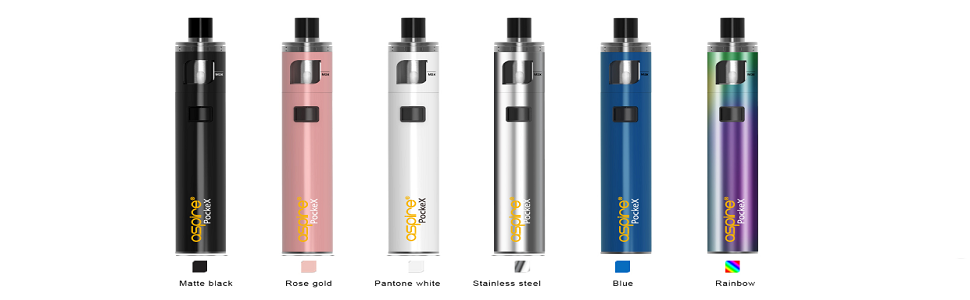 Aspire Pockex Starter Kit, Pocket AIO All in One, Black