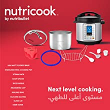 Nutricook Smart Pot Prime by Nutribullet 10 in 1 Instant Programmable Electric Pressure Cooker