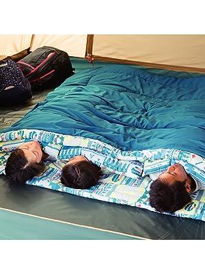 寝袋 ファミリー2in1 C5 使用可能温度5度 封筒型