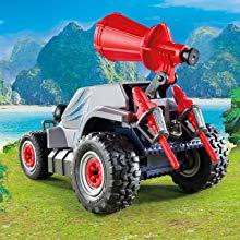 Playmobil, Explorers, Triceratops, Dinosaur, Quad, Vehicle