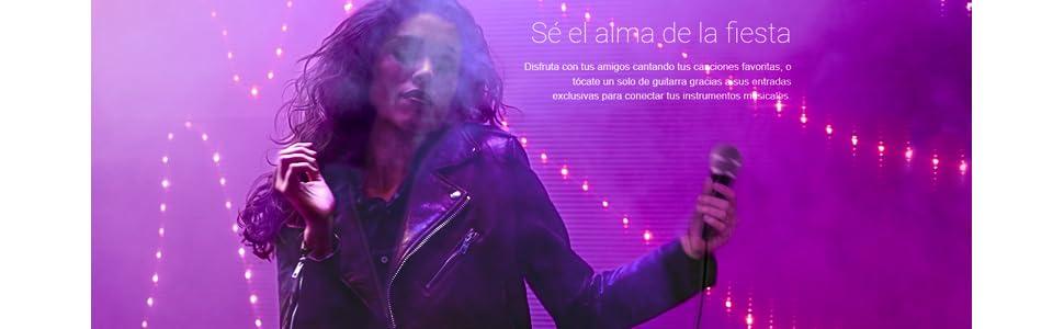 Energy Party 6 Altavoz Karaoke con micrófono y Bluetooth (Botón ...