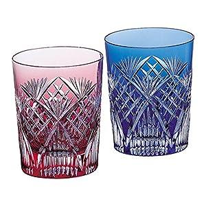 ペア冷酒杯(笹っ葉に斜十文字紋)