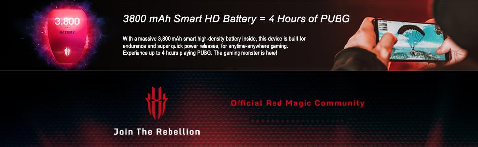 Red Magic (Gaming Phone, 8GB RAM, 128GB Storage, Black)