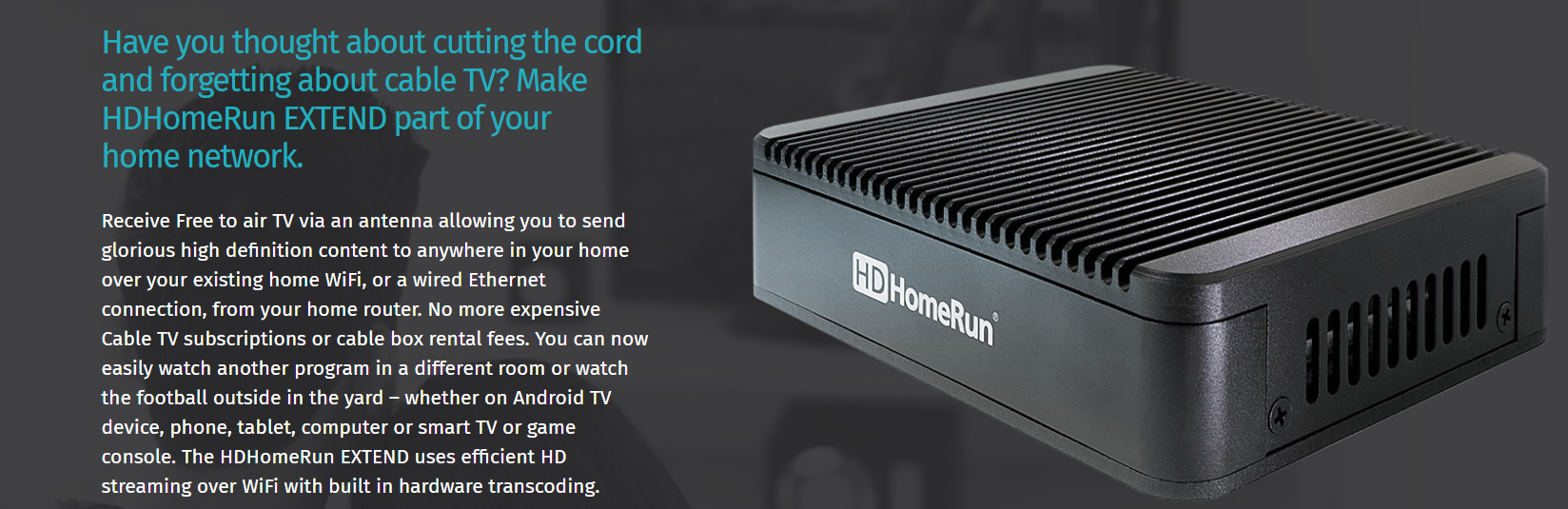 SiliconDust HDHomeRun EXTEND.FREE Broadcast HDTV (2-Tuner ...