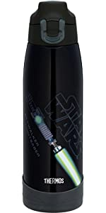サーモス 真空断熱スポーツボトル スターウォーズ ルークスカイウォーカー 1.0L ブライトグリーン FFF-1004SW BTG