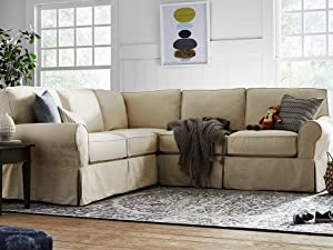 Stone & Beam Carrigan living room furniture sofa loveseat sectional slipcover collection