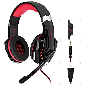 G9000 Gaming Headset Headphone 3.5mm Stereo Jack with Mic LED Light