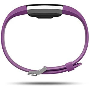 Fitbit Charge 2 Activity Tracker with Wrist Based Heart Rate Monitor - Plum