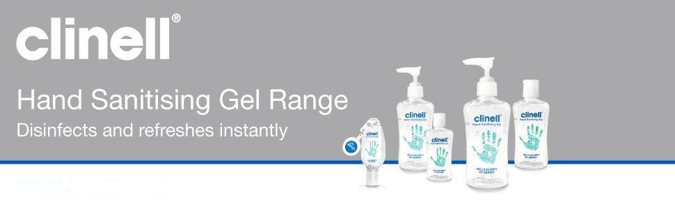 Hand sanitising gel range