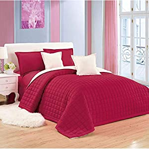 Moon Compressed Two-Sided Color 6 Pieces Comforter Set, King Size, Re-Be, Mixed Material